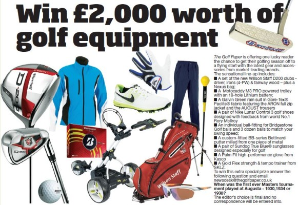 Win £2,000 Worth of Golf Equipment!