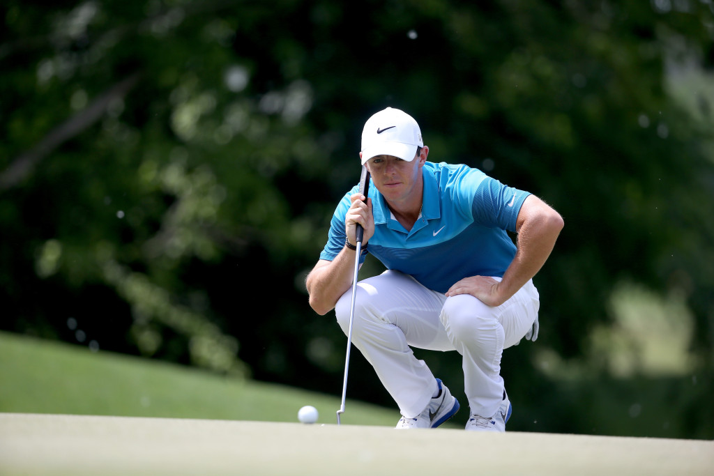 CHARLOTTE, NC - MAY 17:  Rory McIlroy of Northern Ireland during the final round at the Wells Fargo Championship at Quail Hollow Club on May 17, 2015 in Charlotte, North Carolina.  (Photo by Streeter Lecka/Getty Images)