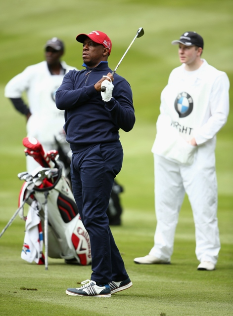 Ian Wright: during the Pro-Am ahead of the BMW PGA Championship at Wentworth (Picture: gettyimages)