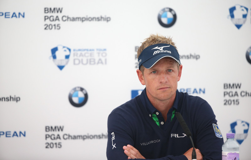 during practice for the BMW PGA Championship at Wentworth on May 19, 2015 in Virginia Water, England.