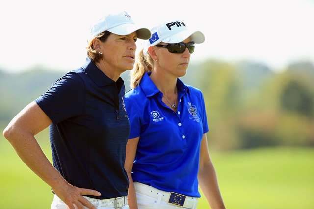 Captains together: Juli Inkster and Carin Koch