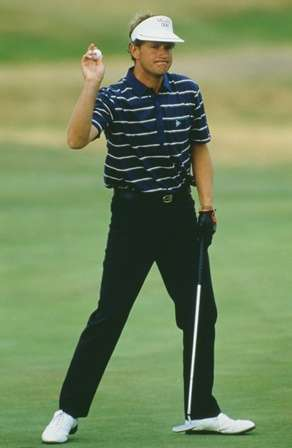 Golfing force: Lyle is well respected in the game. Winning the 1985 Open (Photo by Getty Images)