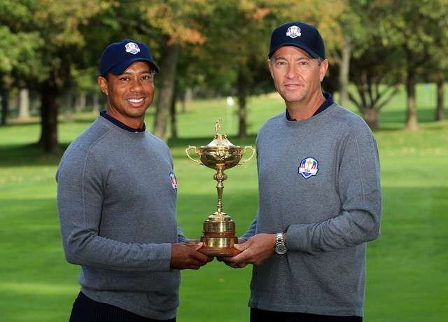US Dream Team: Davis Love III has confirmed that Tiger Woods will be one of his vice-captains at next year's Ryder Cup (Photo by Getty Images)