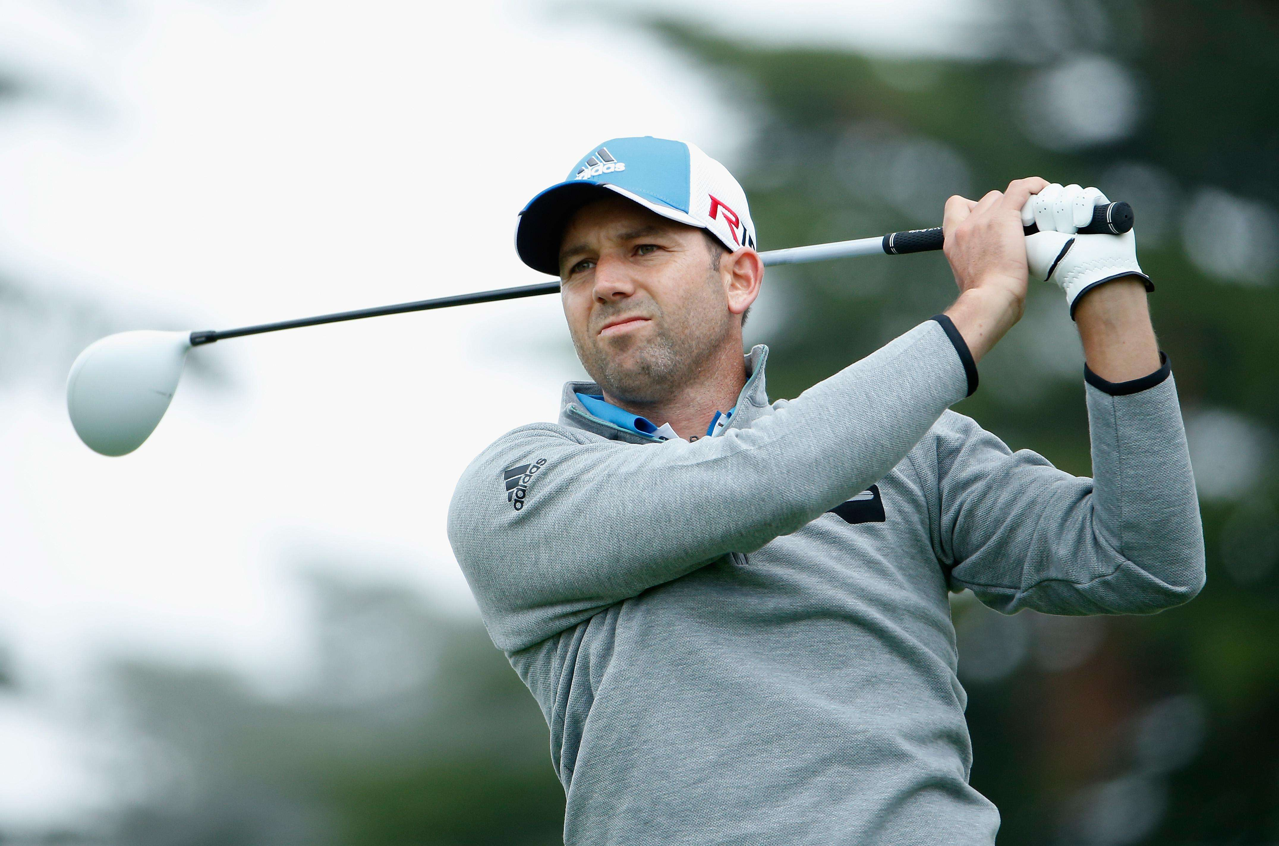 SAN FRANCISCO, CA - MAY 01: Sergio Garcia of Spain hits a tee shot on the sixth hole during round three of the World Golf Championships Cadillac Match Play at TPC Harding Park on May 1, 2015 in San Francisco, California. (Photo by Christian Petersen/Getty Images)