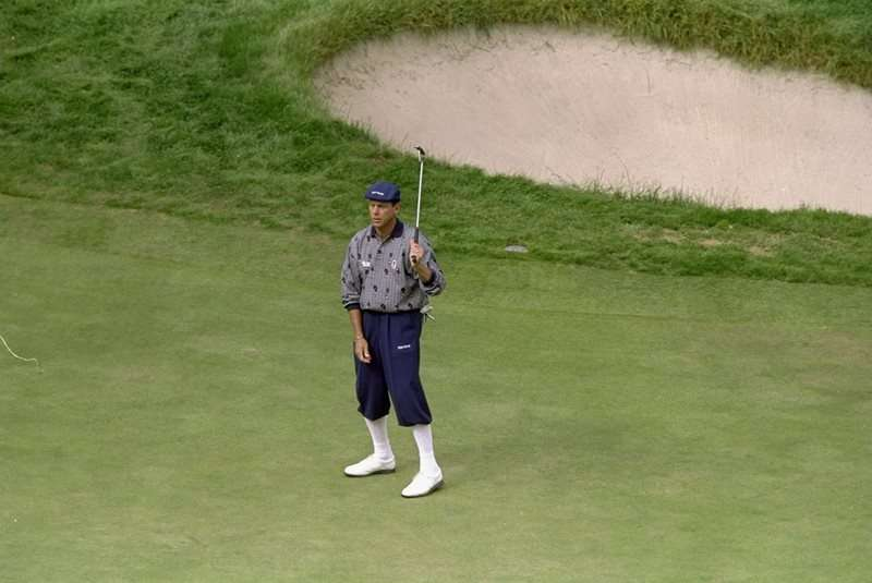 Disgusted: Payne Stewart fell foul of the USGA's course set-up tactics at the 1998 US Open at Olympic Club (photo by Getty Images)