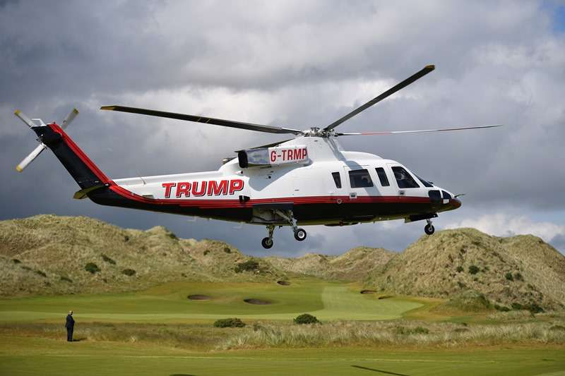 Trademark: Trump arrives at Turnberry (Photo by Getty Images)