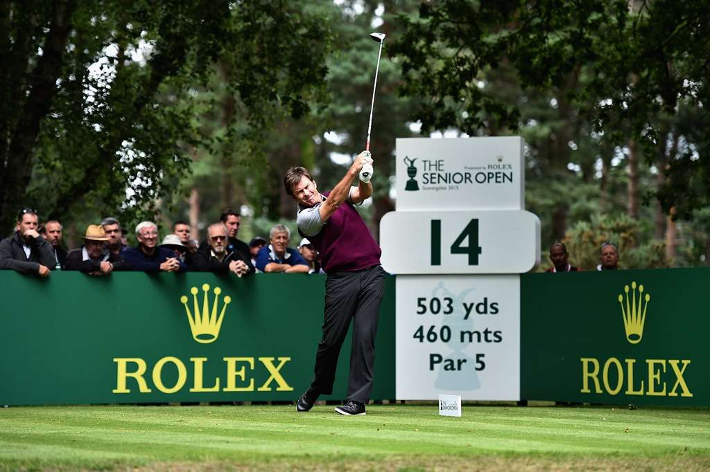 Not playing its knight: Sir Nick Faldo rarely played on the Senior Tour (photo by Getty Images)