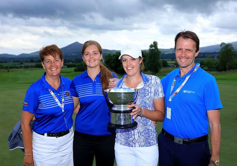 New chief: David MacLaren, pictured with his daughter Meghan, a rising star of the game, wants to improve the Senior Tour (photo by Getty Images)