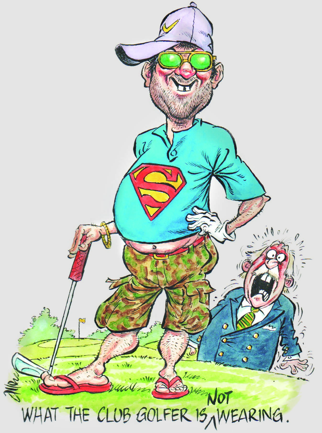 """""""In my book, anyone over the age of 70 wearing shorts on a golf course should be subject to a two stroke penalty."""""""