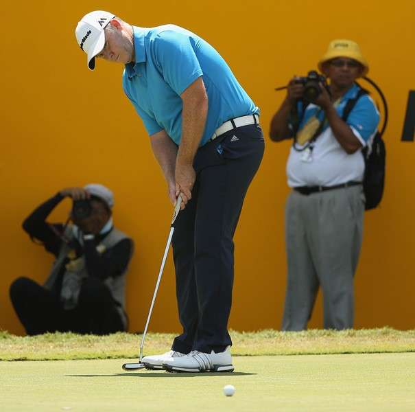 Handicap: Marcus Fraser struggles on long courses but revels on the greens (photo by Getty)