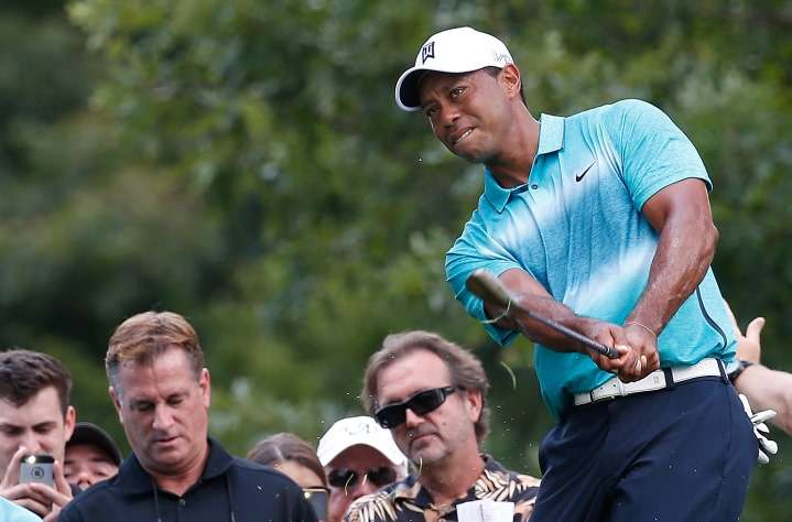 Tiger Woods and David Duval were often known to spit on the course