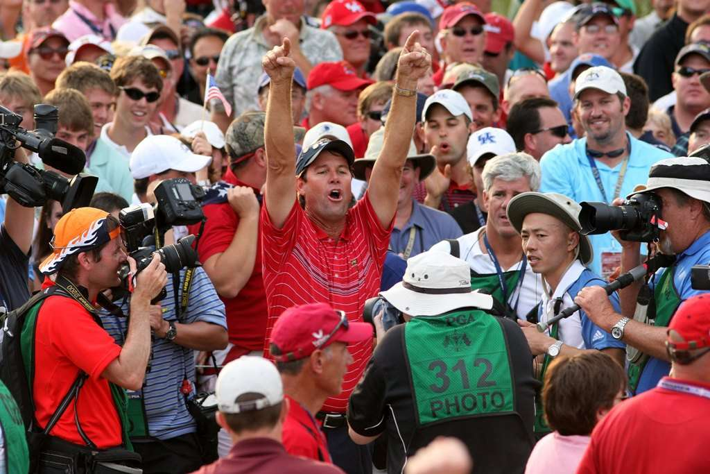 Podswallop!: Some people said that the US won in 2008 because Paul Azinger split his team into Navy Seal-style pods of four (Photo by Getty Images)