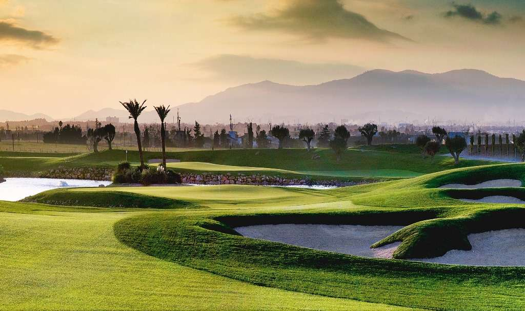 Water, water everywhere: The fourth and fifth holes at Son Gual