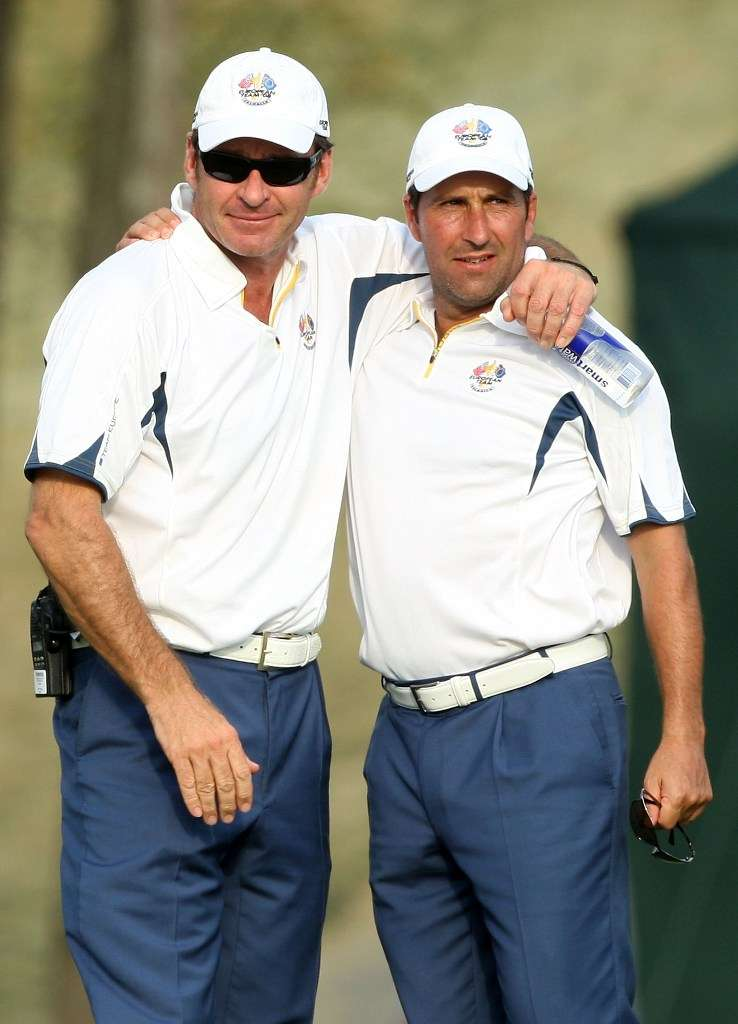 Respect: Sir Nick Faldo always felt that the Spaniards would win their pairs matches (Photo: Getty Images)
