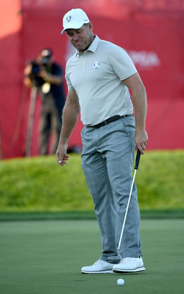One of those days: Lee Westwood admitted that he felt he had let captain Darren Clarke down